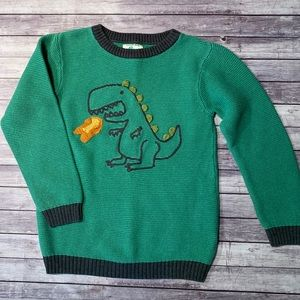 NEXT Knit Crew Neck Sweater w/ Dinosaur